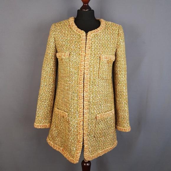 8d6988d7c09e CHANEL Jackets & Coats | Tweed Wool Blazer Coat Zip Womens Size M ...